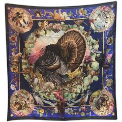 Hermes RARE Vintage Faune et Flore du Texas Silk Scarf