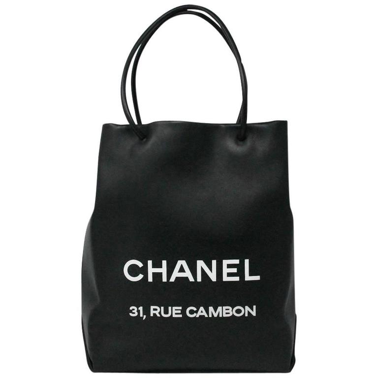 Chanel Petit 31 Rue Cambon Black Leather Runway Tote Bag in Box No. 12 1
