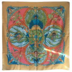 Hermes Amazonia Marigold Silk Scarf