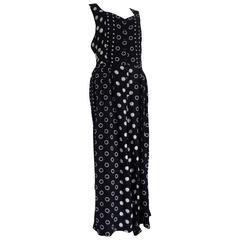 Style Avant Blu white pois Dress jumpsuit