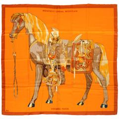 "Hermes New 52"" Silk Oversize Monpetetit Cheval Mexicain Shawl Scarf"