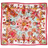 "Hermes New Kachinas Cashmere Silk 55"" Shawl Scarf"
