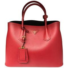 Prada Double Bag Saffiano Cuir Red
