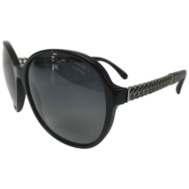 Chanel Chain Sunglasses Black 1