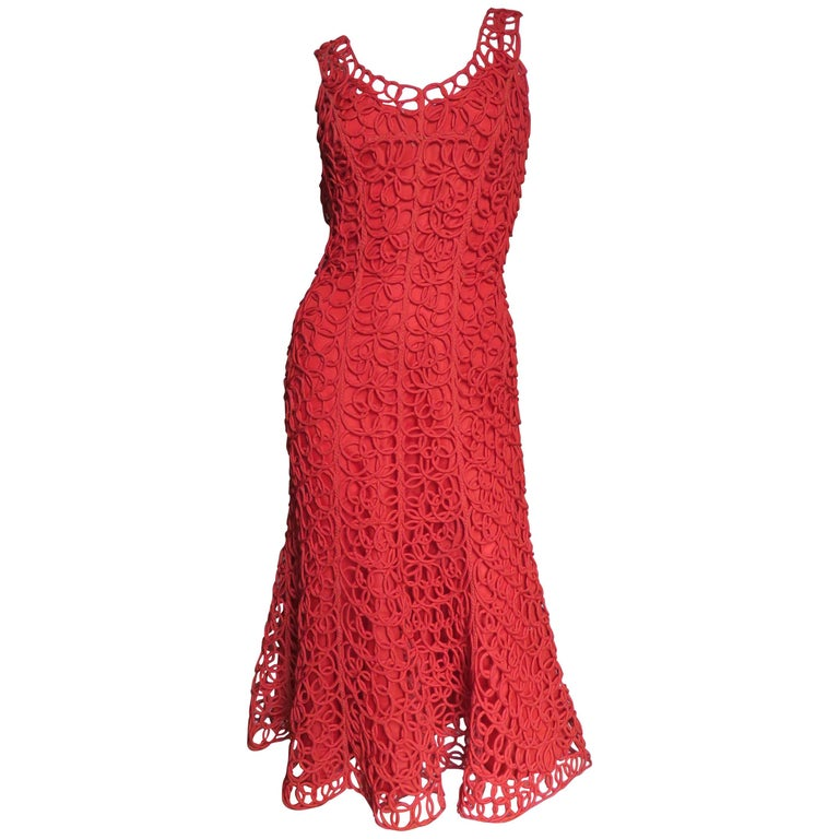 1950's Fabulous Coiled Dress
