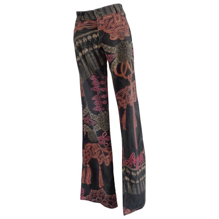 Roberto Cavalli Multicolour Pants For Sale