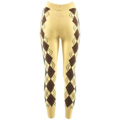 Vivienne Westwood Autumn-Winter 1989 yellow argyle knitted leggings
