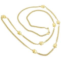 Judith Leiber Gold Drop Necklace with Purse Charms