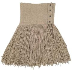RALPH LAUREN Fall 2015 COLLECTION Taupe Cashmere Fringe Scarf Shawl