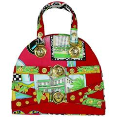 Gianni Versace Couture Vintage 1990s Miami Print Bag
