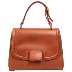 "2000s Fendi ""Silvana"" Leather and Canvas Tote Bag"