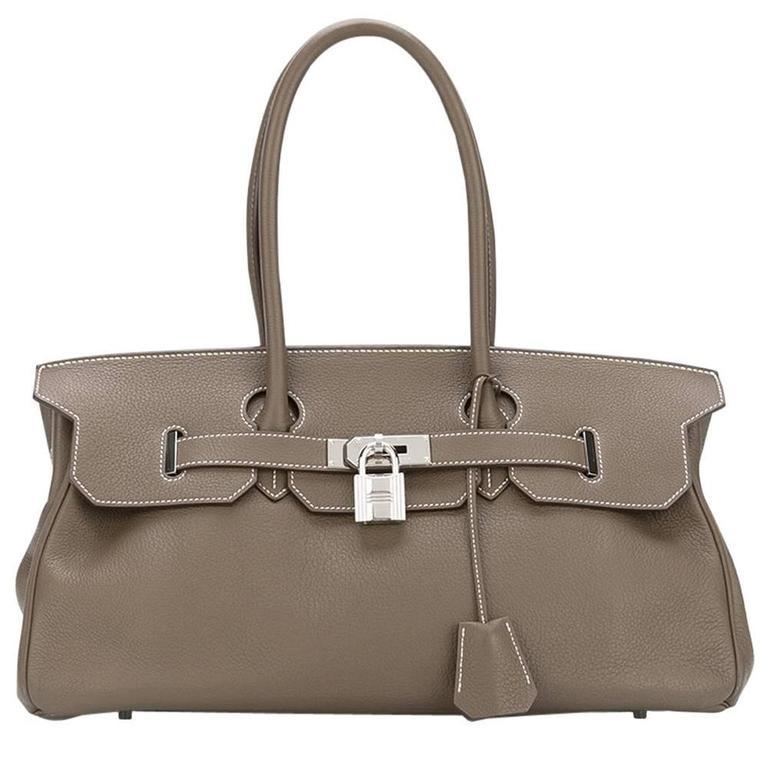 Hermes shoulder Birkin etoupe togo bag NEW condition For Sale