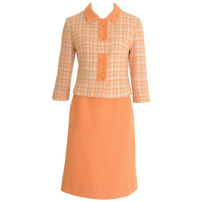 1960s SORELLE FONTANA Italian Couture Mod Suit Dress