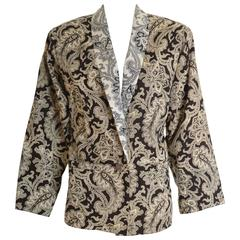 1980s GIANNI VERSACE Paisley Cotton Jacket