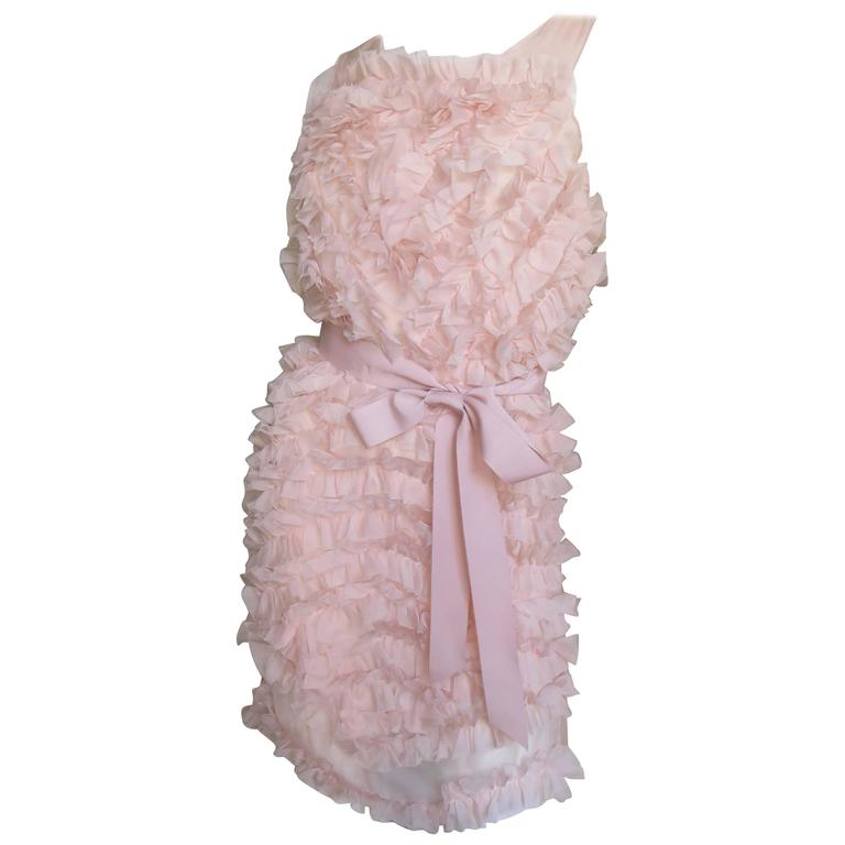 1990s Chloe Silk Ruffled Dress