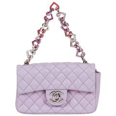 Chanel Mini Classic Lavender Flap Bag