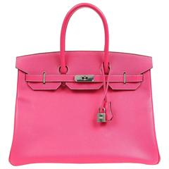 Hermès Rose Tyrien Epsom Leather 35 cm Birkin Bag with PHW
