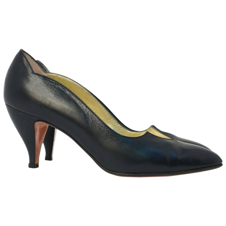 80s Walter Steiger Black Pumps