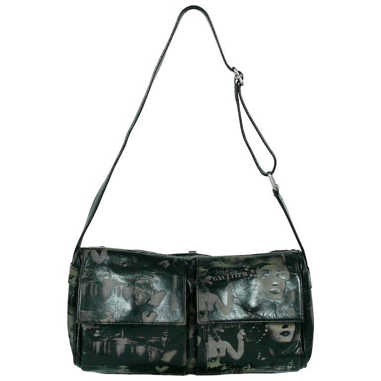 Jean Paul Gaultier Vintage Black Lambskin Corset Bag Clutch AYYyuj7AEf