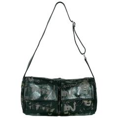 Jean Paul Gaultier Bag In Prince De Galles Canvas And Black Patent Leather Oc9bQdcTu