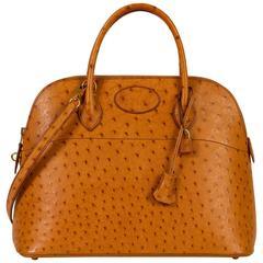 Hermès Chestnut 35cm Ostrich Bolide Bag