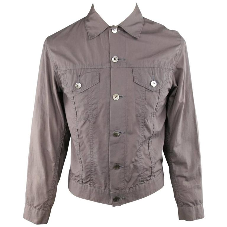Men's JUNYA WATANABE 40 Taupe Cotton Light Weight Trucker Jacket Circa 2002