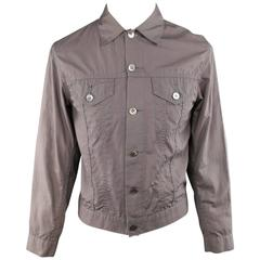 Men's JUNYA WATANABE 40 Taupe Cotton Light Weight Trucker Jacket Circa 2002