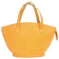 Vintage Louis Vuitton Saint Jacques PM Yellow Epi Leather Hand Bag