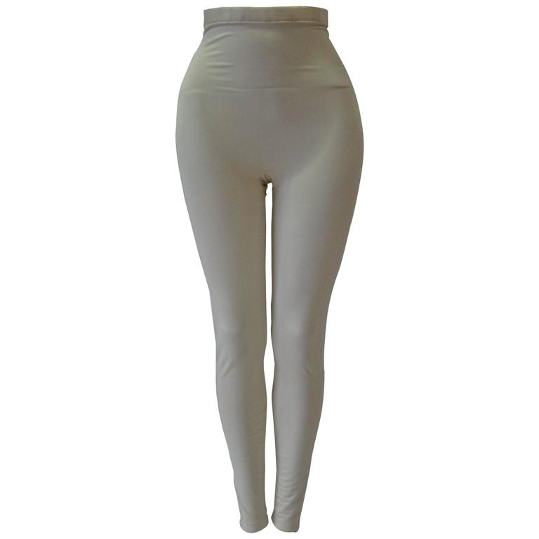 Gianni Versace Couture Creme Stretch Leggings