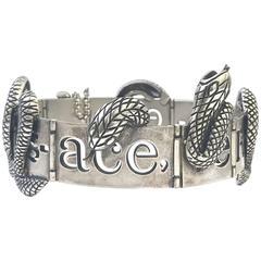 1990s Gianni Versace Rare Metal Snake Choker