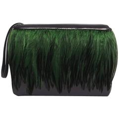 Lisa Minaudière Feathers and Lambskin Leather Bag