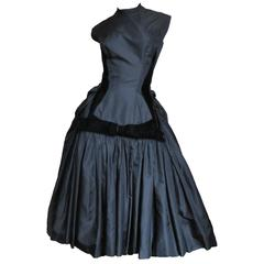 Neusteters Fabulous 1950's Silk Full Skirt Dress