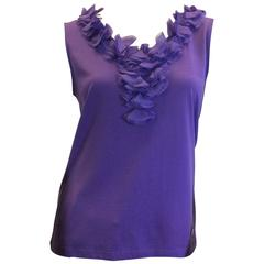Carolina Herrera Purple Sleeveless Top
