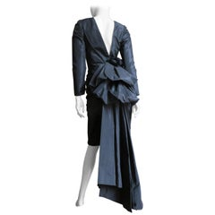 Victor Costa 1980s Dress with Bustle