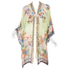 Very Rare Sheer Chiffon Japanese Kimono from the 1920s