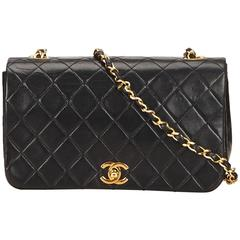 Black Chanel Quilted Lambskin Flap Bag