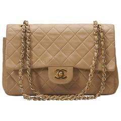 Beige Chanel Medium Classic Flap Bag