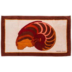 Hermès Beach Towel With Shell Design