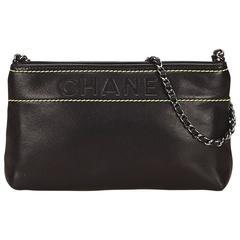 Black Chanel Leather Shoulder Bag