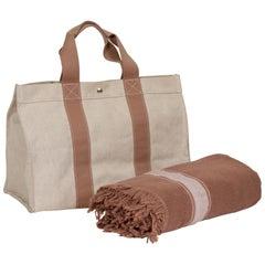 Hermès Beach Bag With Matching Towel