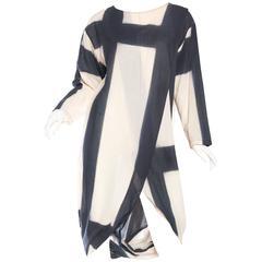 Rare Early Issey Miyake Draped Dress