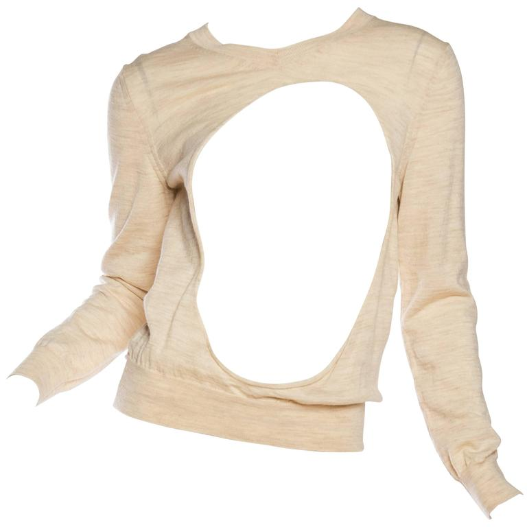 Comme Des Garcons One Hole Sweater
