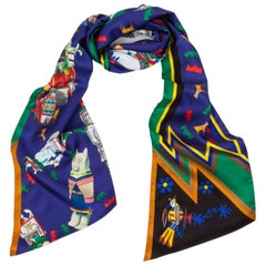 New in Box Hermes Limited Edition Kachinas Maxi Silk Twilly