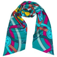"""Hermes Maxi Twilly """" Cavalcadour"""" Scarf"""