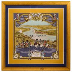 Hermès Les Armees Silk Framed Scarf