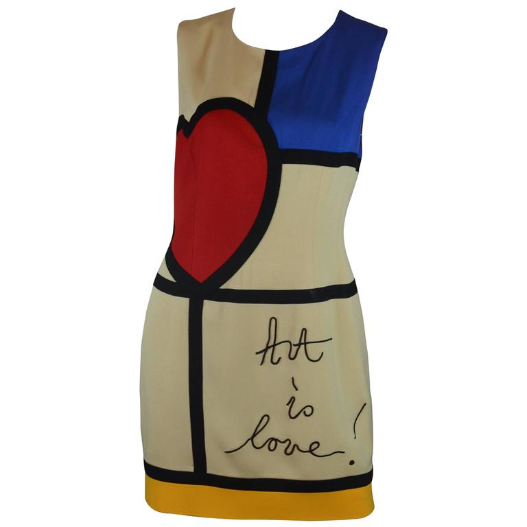 Moschino Art is Love Mondrian Dress 1