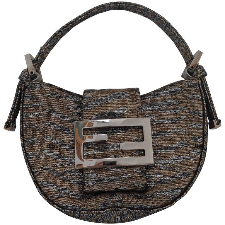 Fendi Gold Silver Miniauderie Bag