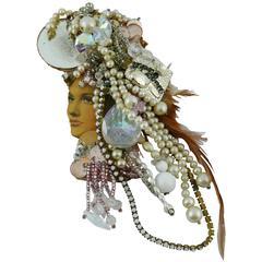 Liliane Muller Fabulous Opulent Vintage Huge Brooch