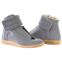MAISON MARTIN MARGIELA Men's Reflective Gray High Top Sneaker  43/10