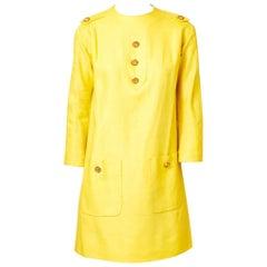Pierre Cardin Linen Day Dress C. 1960's